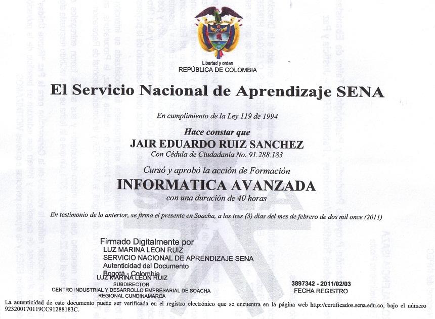 Certificados y Constancias Sena SOFIA Plus