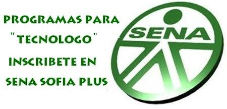 Tecnólogos primera oferta SENA SOFIA Plus