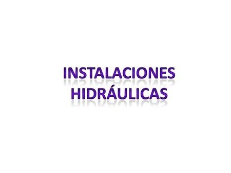 Curso SENA Instalaciones hidraulicas  Curso SENA Instalaciones hidráulicas